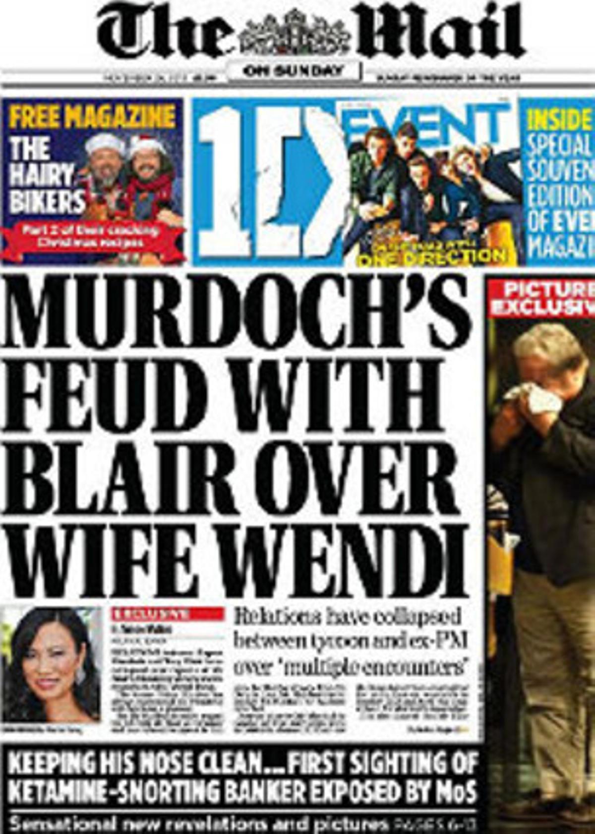 La portada de 'The Mail on Sunday'.