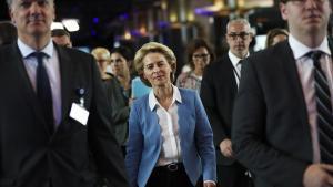 Ursula von der Leyen, candidata a presidir la Comisión Europea, en Bruselas.