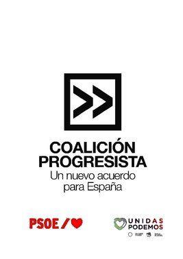 Acuerdo de gobierno de PSOE y Unidas Podemos para una coalición progresista (30 de diciembre de 2019).