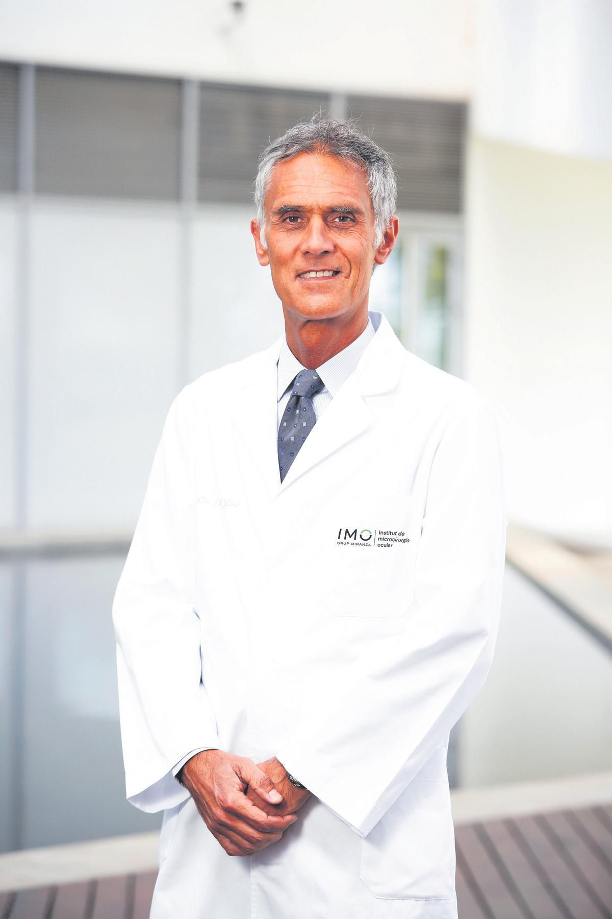 Dr. José L. Güell, oftalmólogo de IMO Grupo Miranza y experto en córnea y cirugía refractiva.