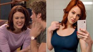 Maitland Ward, en su papel de Rachel en la serie de los 90 'Yo y el mundo', y la actriz, ahora, estrella del porno.