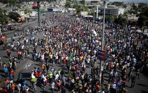 Protestas multitudinarias en Haití.