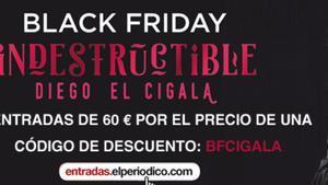 Oferta de Black Friday para el concierto de Diego el Cigala en Barcelona