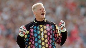 Imagen de archivo de Peter Schmeichel durante la Eurocopa de Suecia.