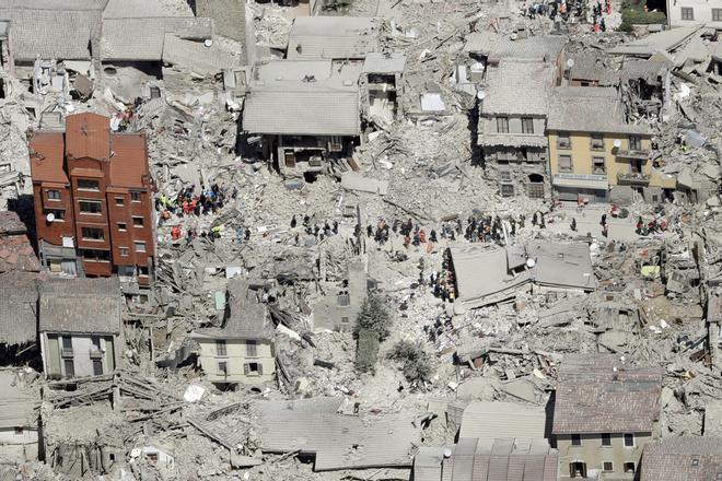 Fotogaleria del terratrèmol a Itàlia