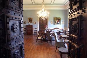 Un salón en el pazo de Meirás.