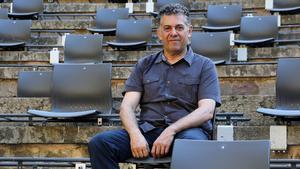 Barcelona 25/06/2020 Icult Entrevista con Cesc Casadesús, director Festival Grec, en el Teatre Grec, adaptado para la Fase 2 del