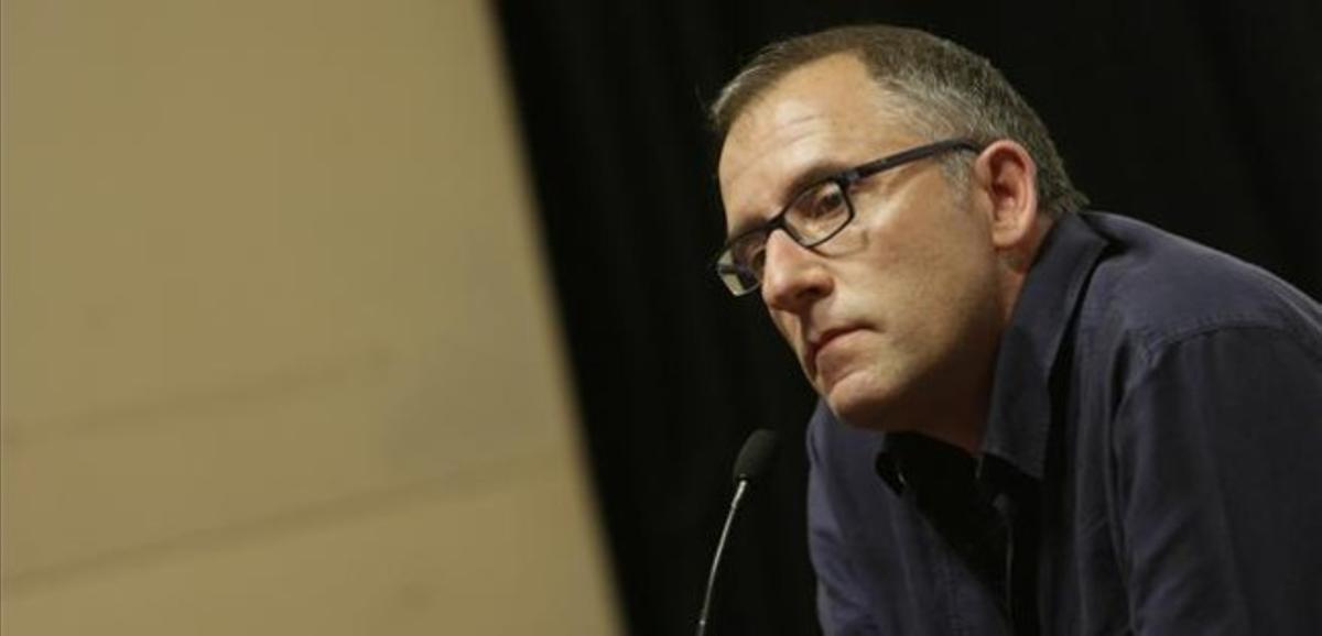 José Luis Acosta, esta tarde tras ser escogido presidente de la SGAE.