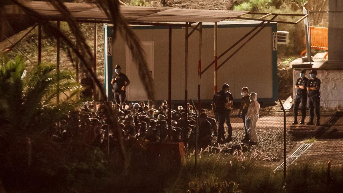 Crisis migratoria en el Gobierno: llegada de migrantes magrebís a Barranco Seco