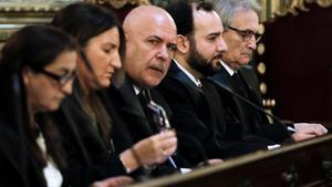 El abogado de Miguel Ángel Flores, JoséLuis Cortes en el Tribunal Supremo que revisa la sentencia sobre el caso Madrid Arena.