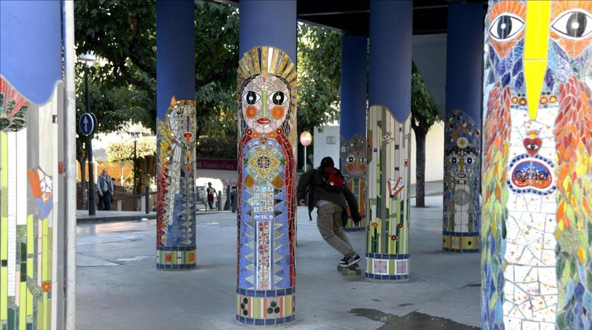 Las columnas de Santa Eulàlia, una vez finalizada la intervención.