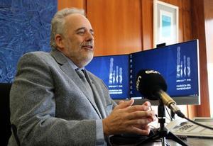El rector de la UAB, Javier Lafuente, en su despacho el 25 de noviembre de 2020