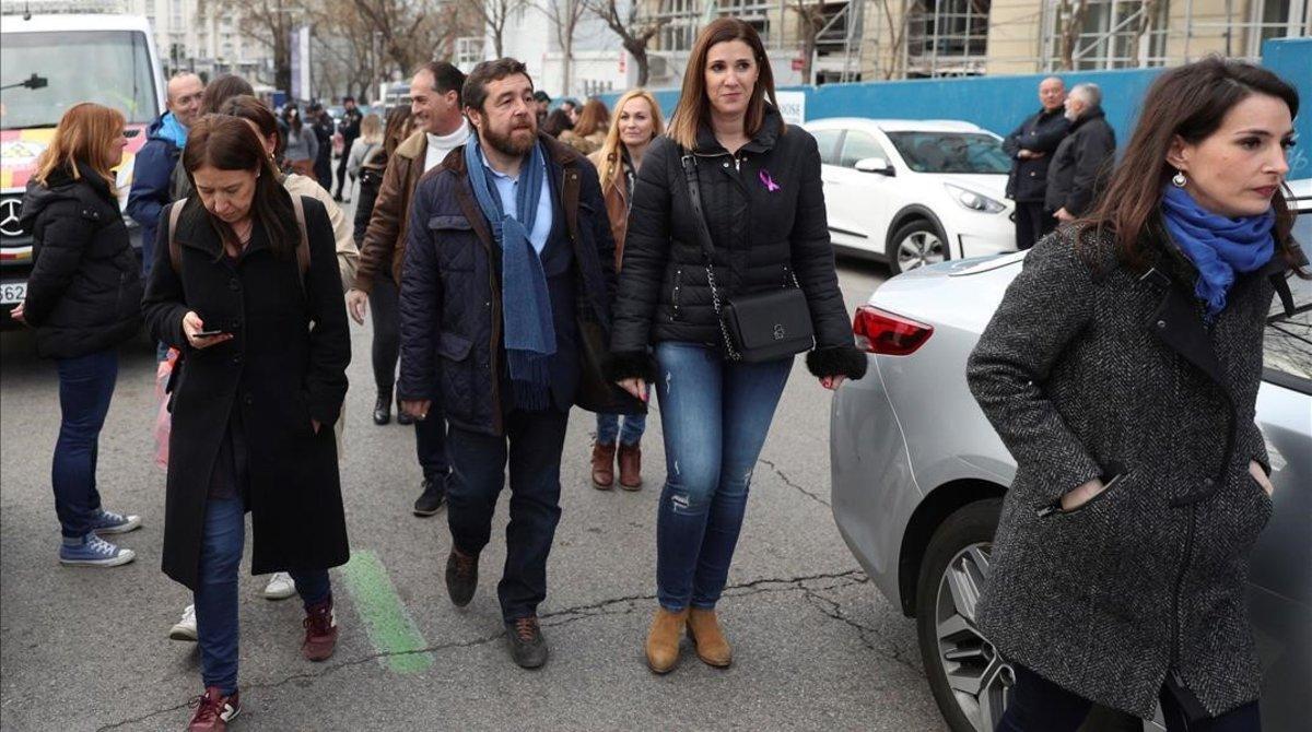 Dirigents de Ciutadans abandonen la manifestació de Madrid després de ser increpats