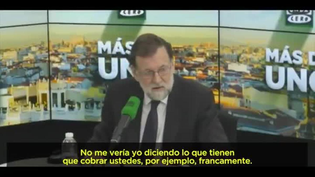 """""""No nos metamos en eso"""" dice M.Rajoy preguntado por la brecha salarial."""
