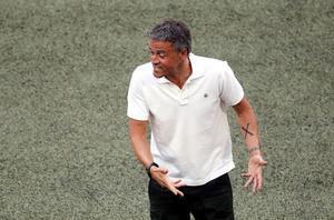 Luis Enrique, en los cuartos contra Suiza.