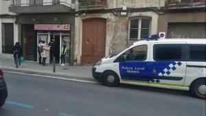 Operativo policial en Mataró.