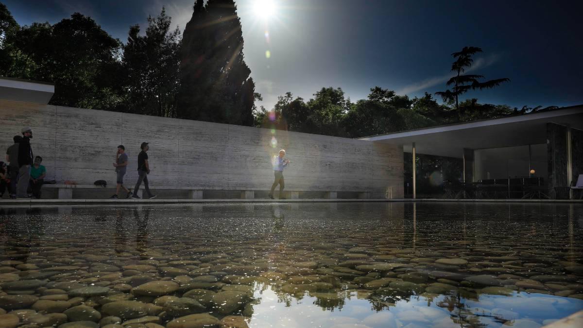 Vista del pabellón Mies van der Rohe de Barcelona.