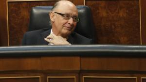 Cristóbal Montoro en su escaño.