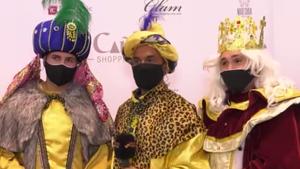 Omar Montes, Luis Rollán y Kiko Rivera como los Reyes Magos, en el polémico evento organizado por un centro comercial de Marbella.