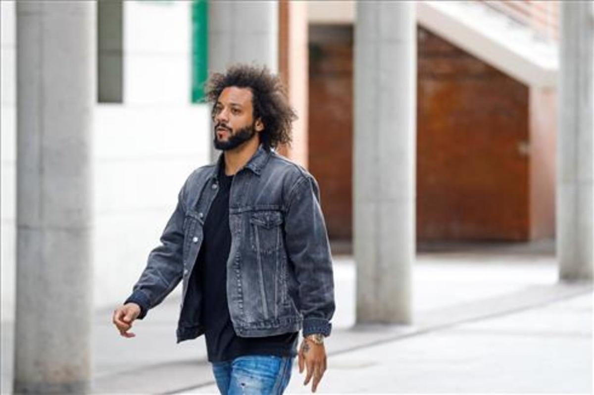 Marcelo Vieira llegando este jueves al juzgado de Alcobendas, Madrid.