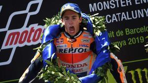 Marc Márquez (Repsol Honda) gana con autoridad el GP de Catalunya y suma la cuarta victoria de la temporada.