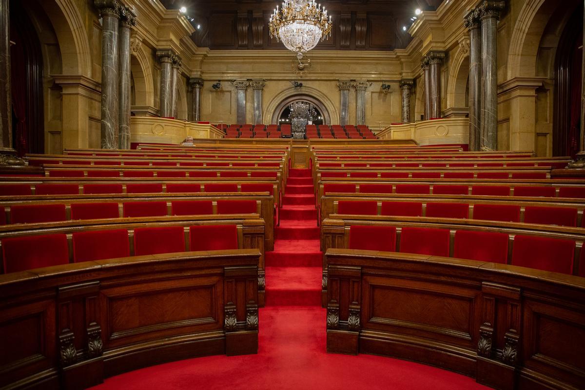 El nou hemicicle del Parlament: l'independentisme a l'esquerra i Vox al galliner