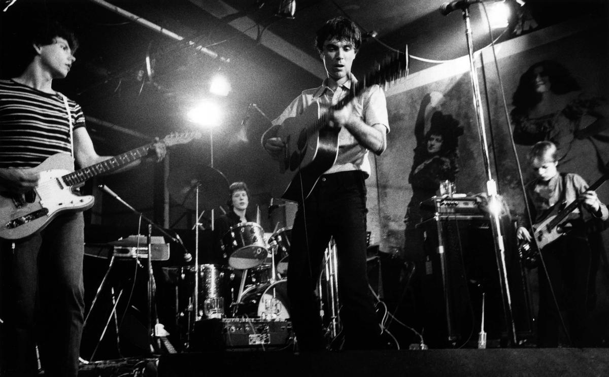Imagen de archivo de los Talking Heads, en 1977.