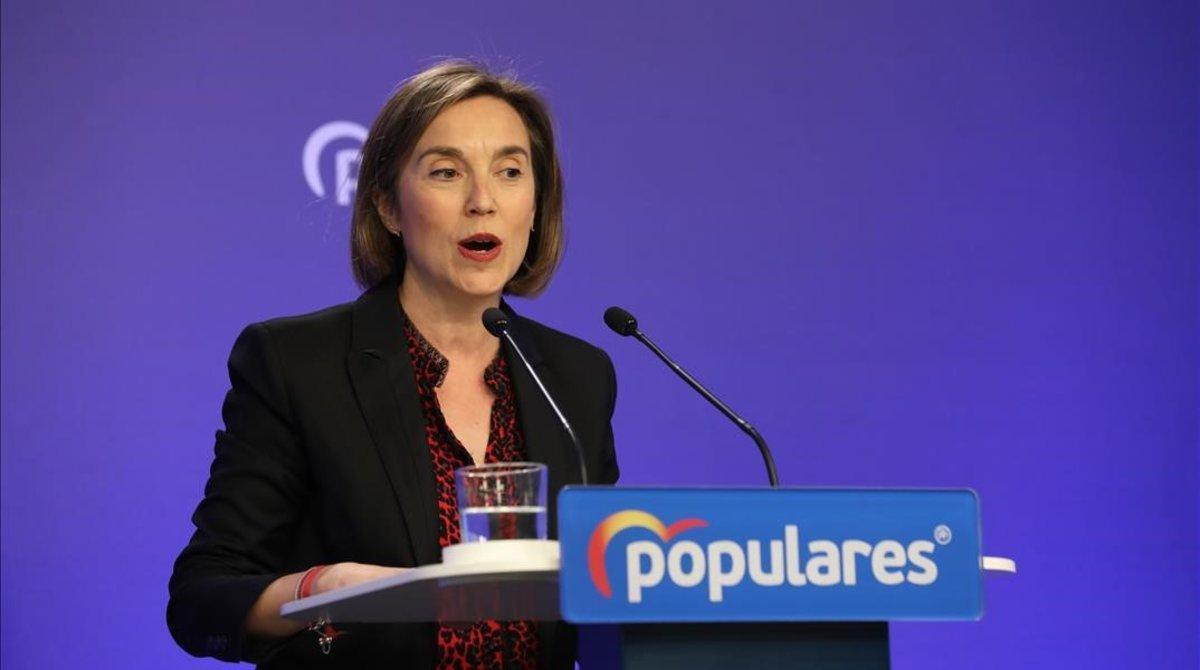 Cuca Gamarra, portavoz del PP en el Congreso