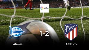 El Atlético de Madrid se lleva tres puntos a casa después de vencer 1-2 al Alavés