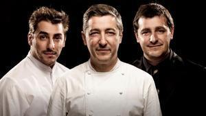 Los hermanos Roca, de izquierda a derecha: Jordi, Joan y Josep.
