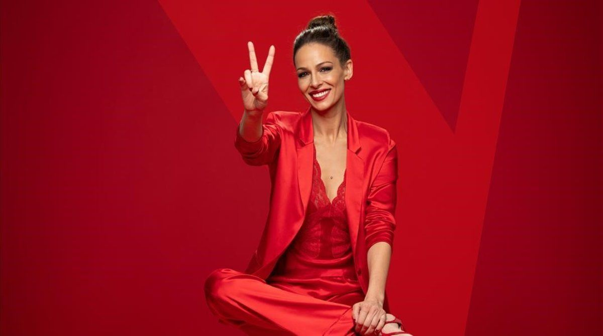 Eva Gonzálezposa para 'La voz', programa de Antena 3.
