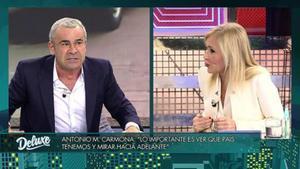 Jorge Javier Vázquez y Cristina Cifuentes en 'Sábado Deluxe'.