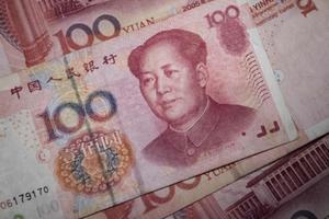 Un billete de 100 yuan.