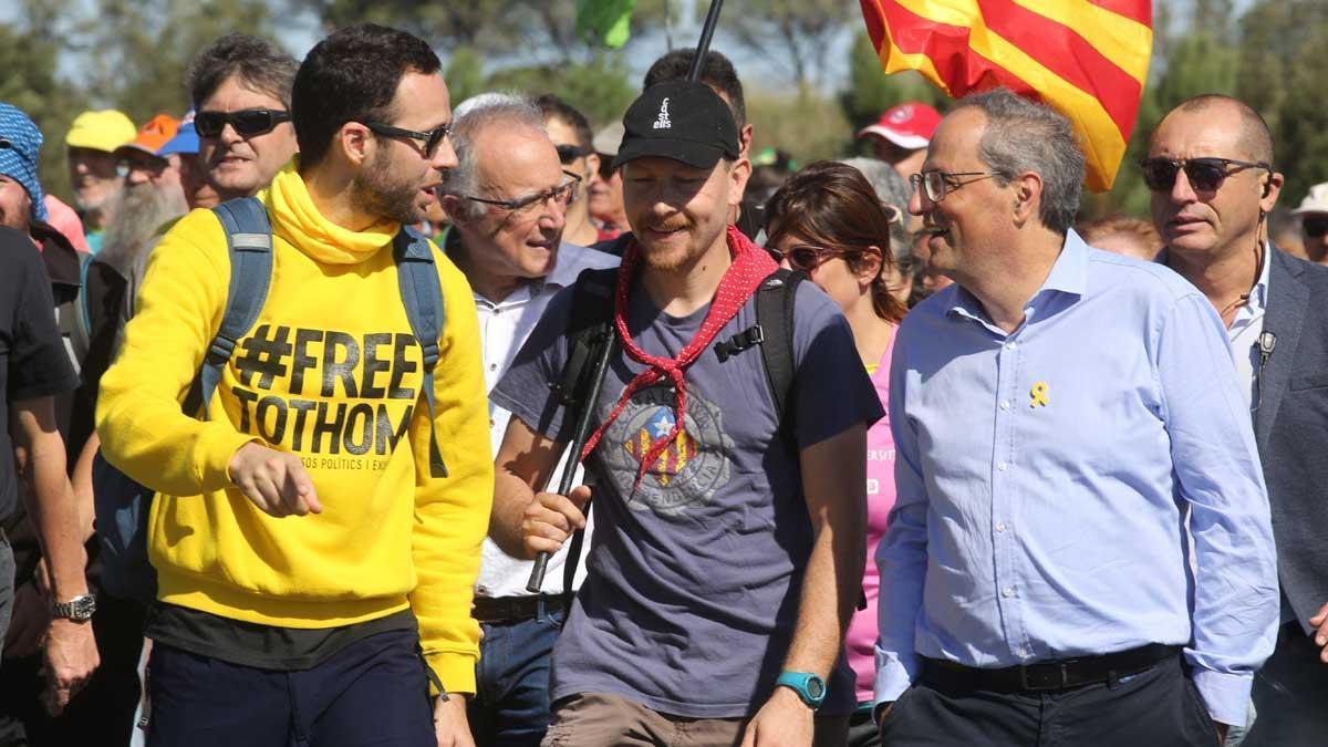 Quim Torra,en lamarchapor la libertad de Girona.