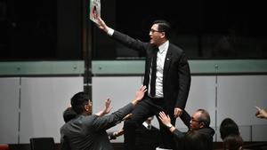 El diputado opositor Lam Cheuk-ting, en una imagen de archivo.