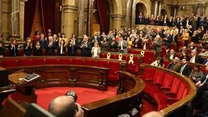 Pleno en el Parlament tras el encarcelamiento de Turull, Rull, Romeva, Bassa y Forcadell.