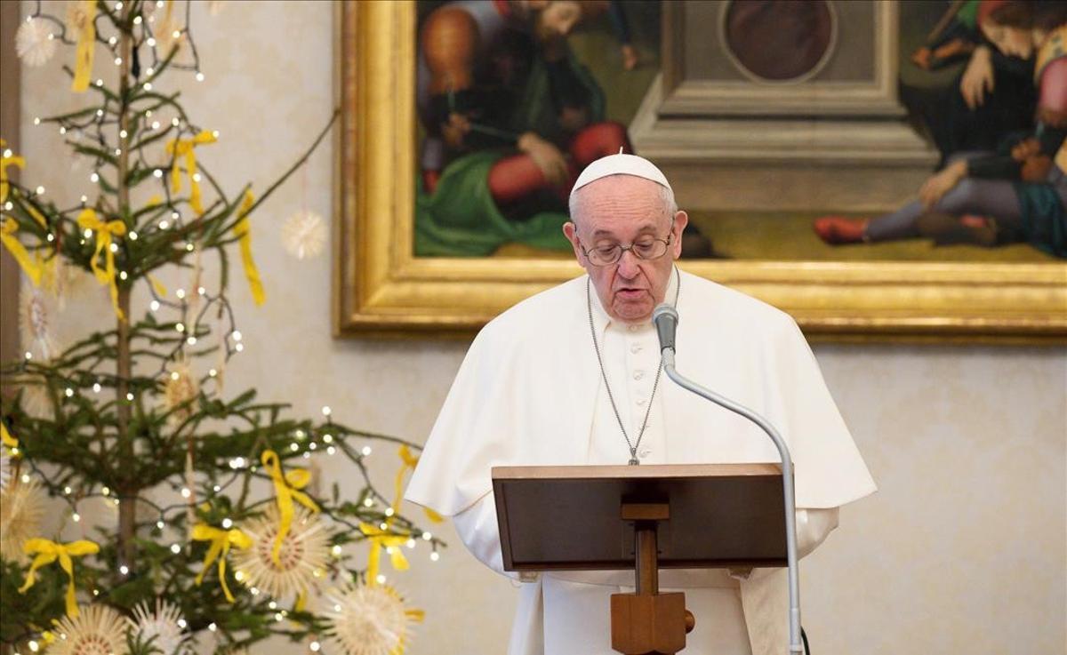 El Papa Francisco en la plegaria del Ángelus, el 10 de enero.
