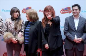 Isabel Coixet, junto a Carmen Maura,Candela Peña y Javier Portillo, director de Campofrío.