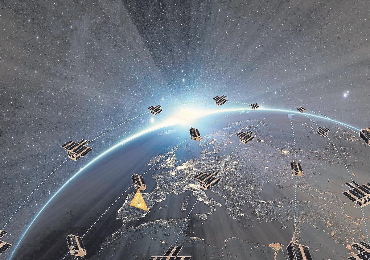 Imagen simulación constelación observación terrestre Open Cosmos