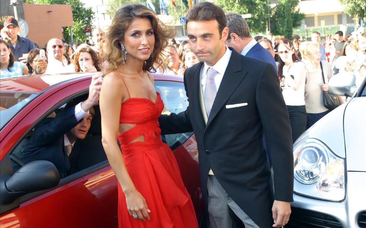 Paloma Cuevas y Enrique Ponce, en el 2004.