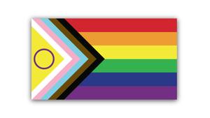 La bandera inclusiva del Orgullo.