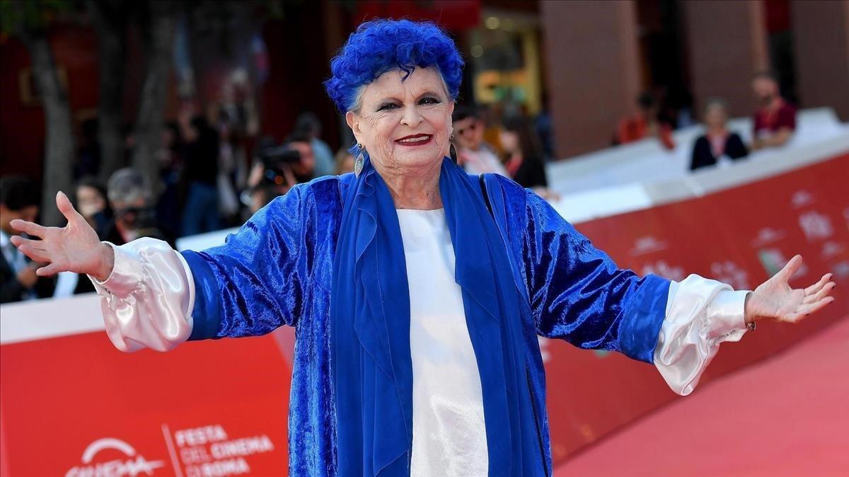 Lucía Bosé, en Roma.