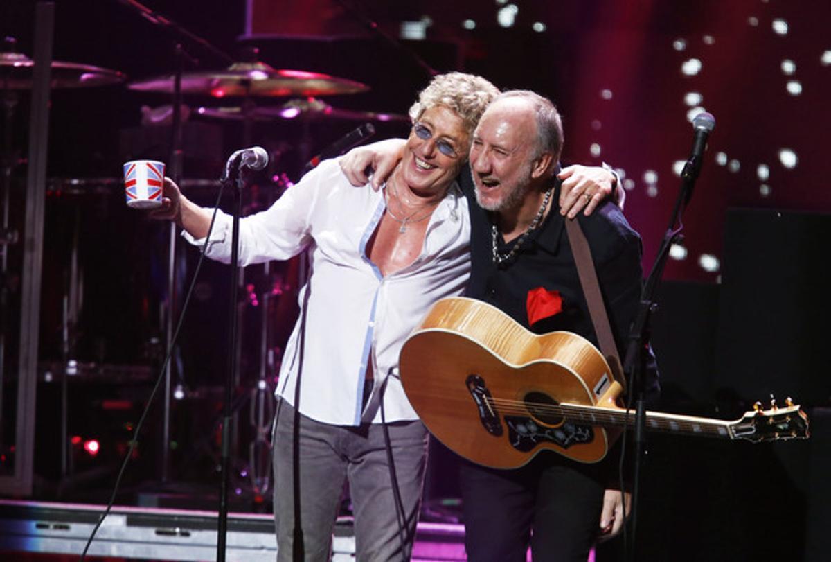 Roger Daltrey y Peter Townshend, del grupo The Who, en el Madison Square Garden, en el 2012