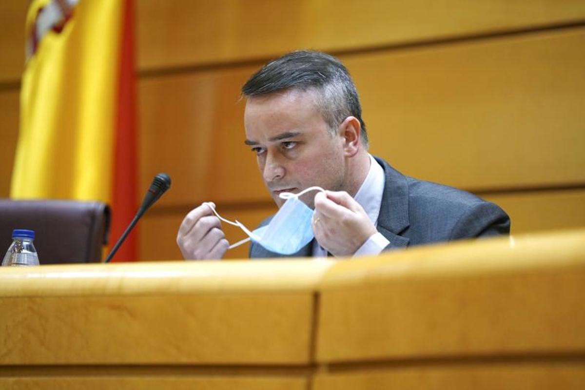 Iván Redondo, ya exdirector de Gabinete del presidente del Gobierno, durante su comparecencia como secretario del Consejo de Seguridad Nacional en la Comisión Mixta, el pasado 25 de junio de 2020 en el Senado.