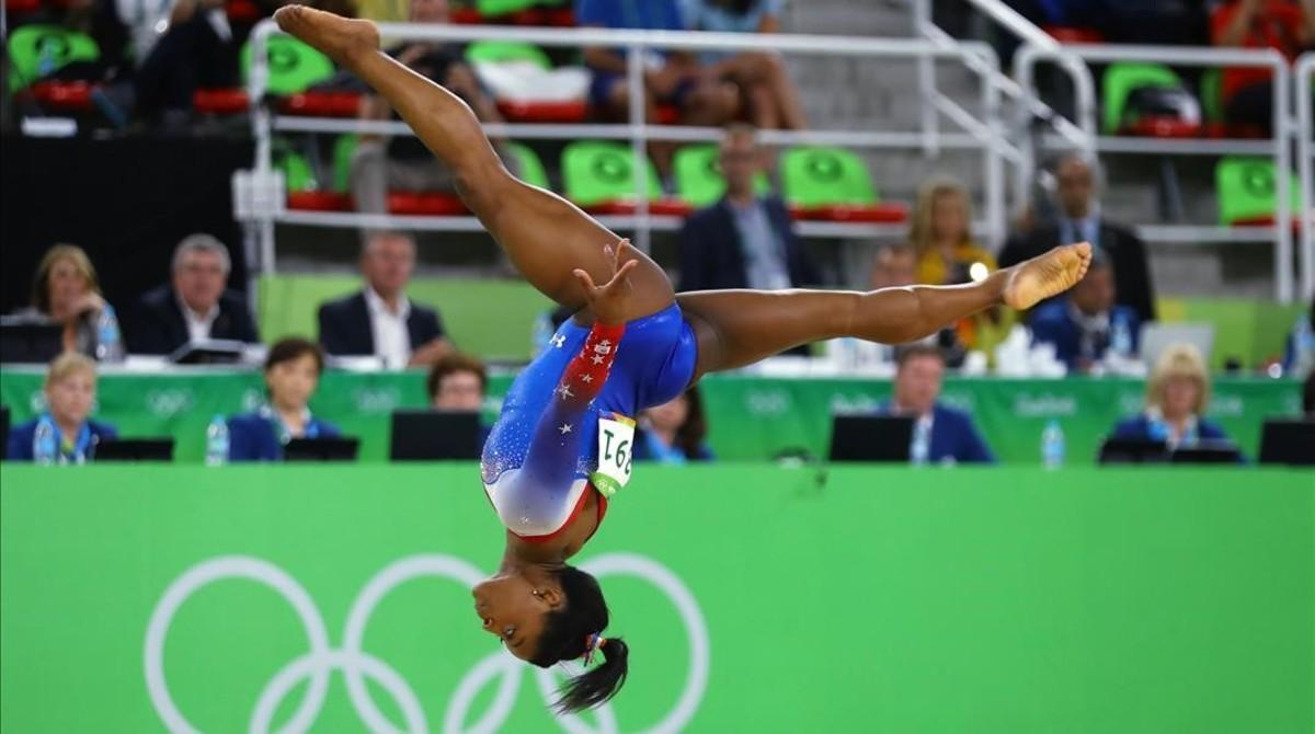 Simone Biles en los pasado Juegos Olímpicos de Río.