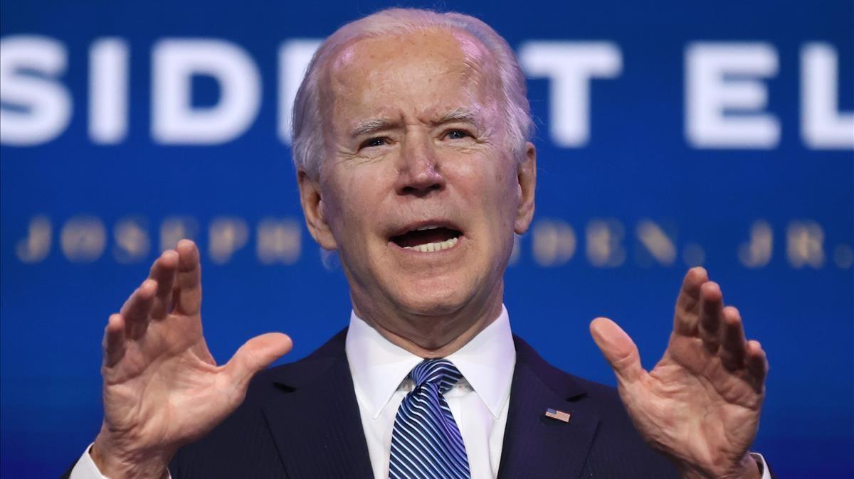 El presidente electo de EEUU, Joe Biden, este jueves al anunciar los nombres de los nuevos altos cargos del Departamento de Justicia
