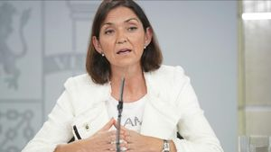 La Ministra de Industria Reyes Maroto en elConsejo de Ministros.
