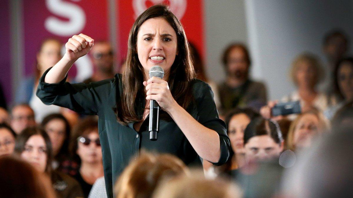 La portavoz de Unidas Podemos en el Congreso, Irene Montero.