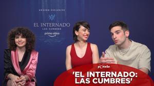 Carlos Alcaide (Manuel), Claudia Riera (Inés) y Daniela Rubio (Adele), protagonistas de 'El internado: las cumbres'