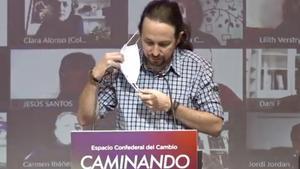 Iglesias en el Consejo Confederal de Podemos.